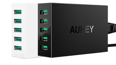 Photo of AUKEY 5 port USB fast charger